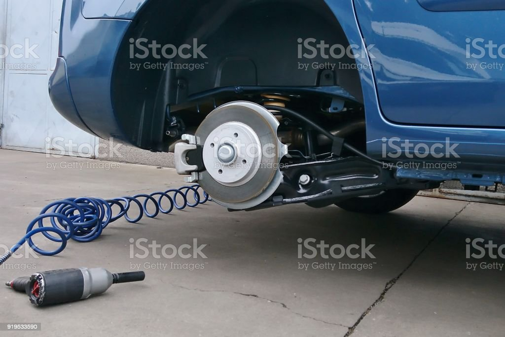 Tyre replacement stock photo