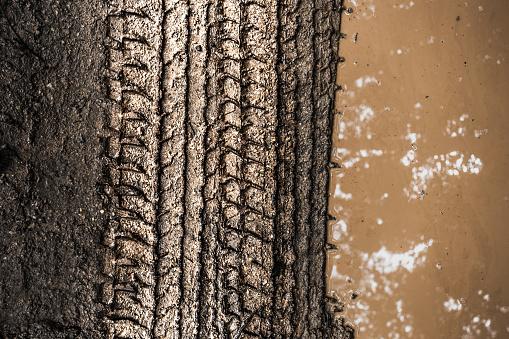 track wheel on sand