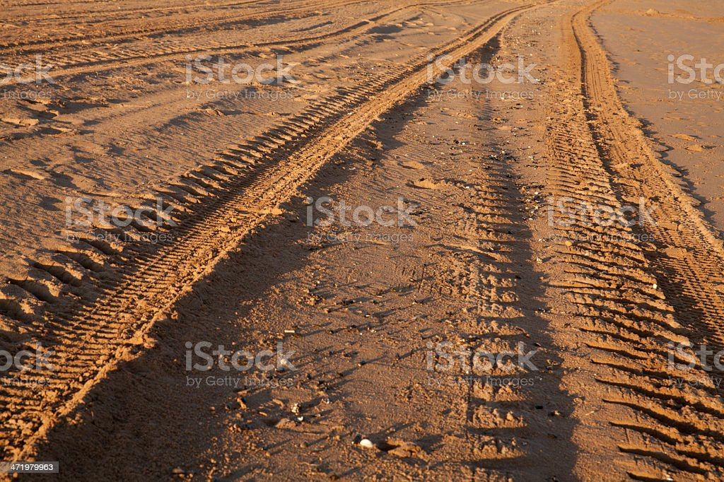 Tyre tracks stock photo