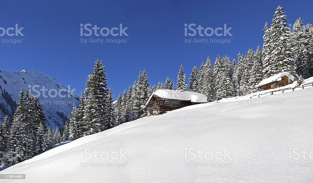 tyrolean hut royalty-free stock photo
