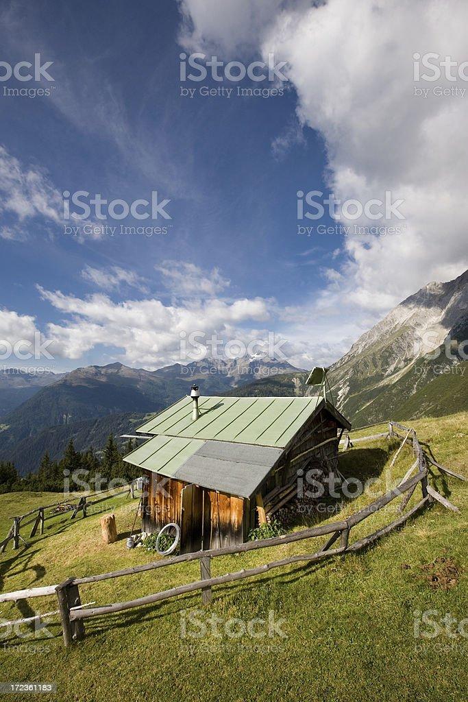 tyrolean hut royalty-free stock photo