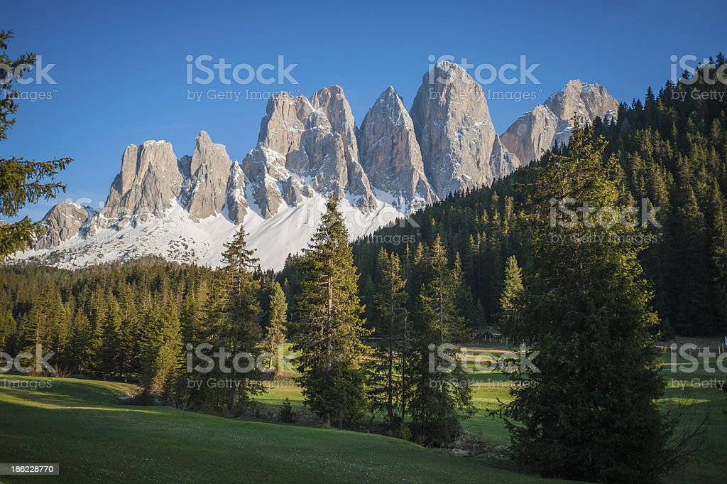 Tyrolean landscape, northern Italy royalty-free stock photo