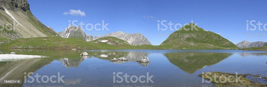 tyrolean mountain lake royalty-free stock photo