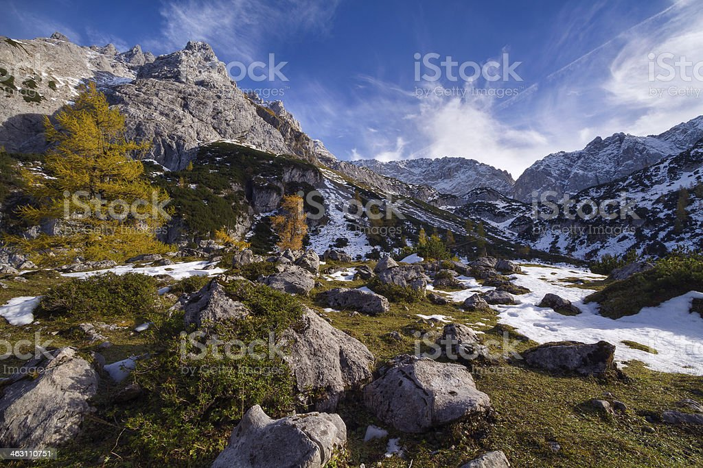 Tyrolean Mountains stock photo