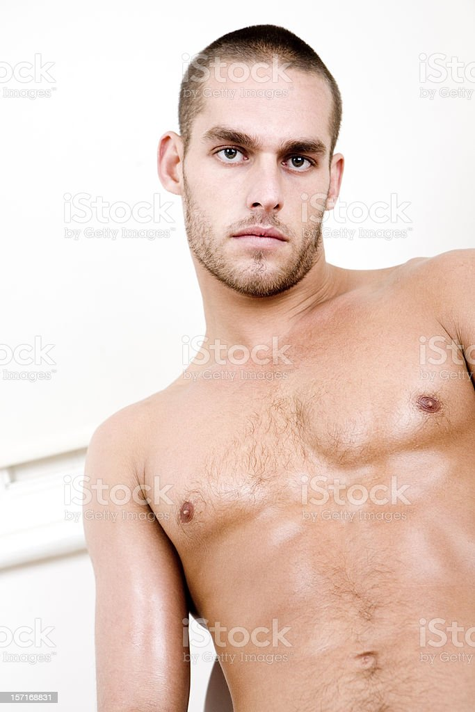 Tyronne Handsome Naked Male Model Royalty Free Stock Photo