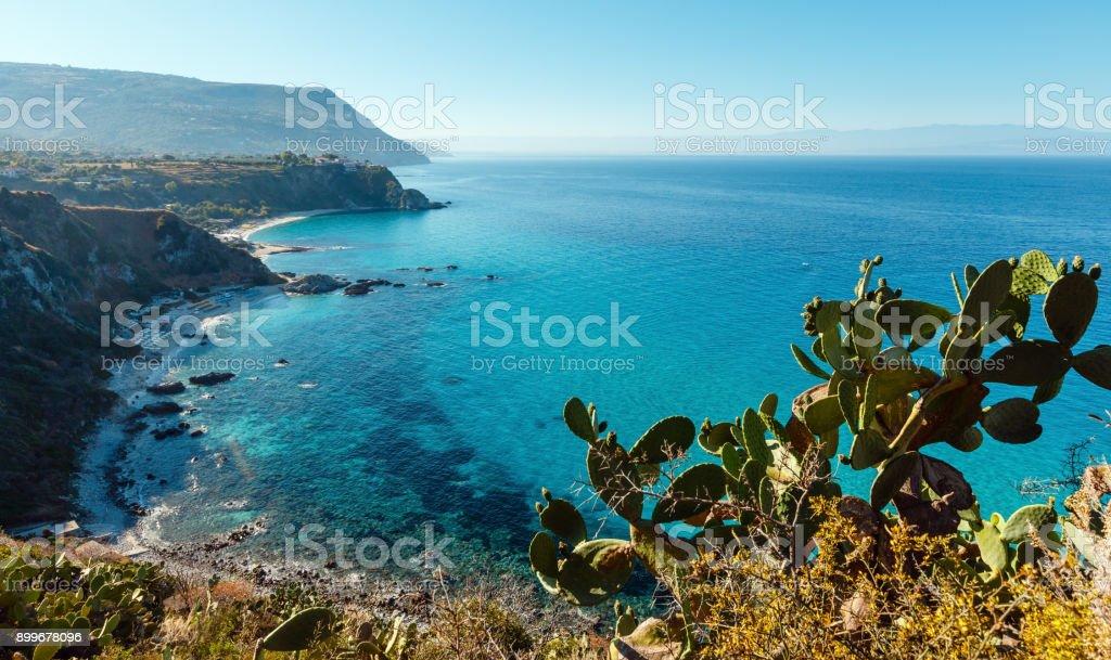 Tyrrhenischen Meer Landschaft, Kalabrien, Italien – Foto