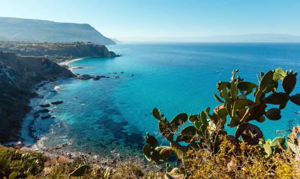 tyrrhenian sea landscape, calabria, italy - foto di tropea foto e immagini stock
