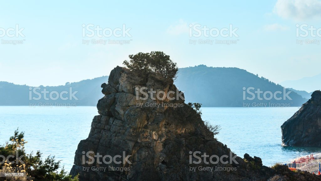 Tyrrhenian sea  landscape, Campania, Italy stock photo