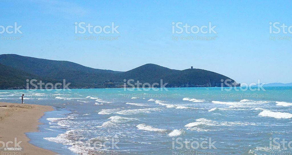 Tyrrhenian Sea stock photo