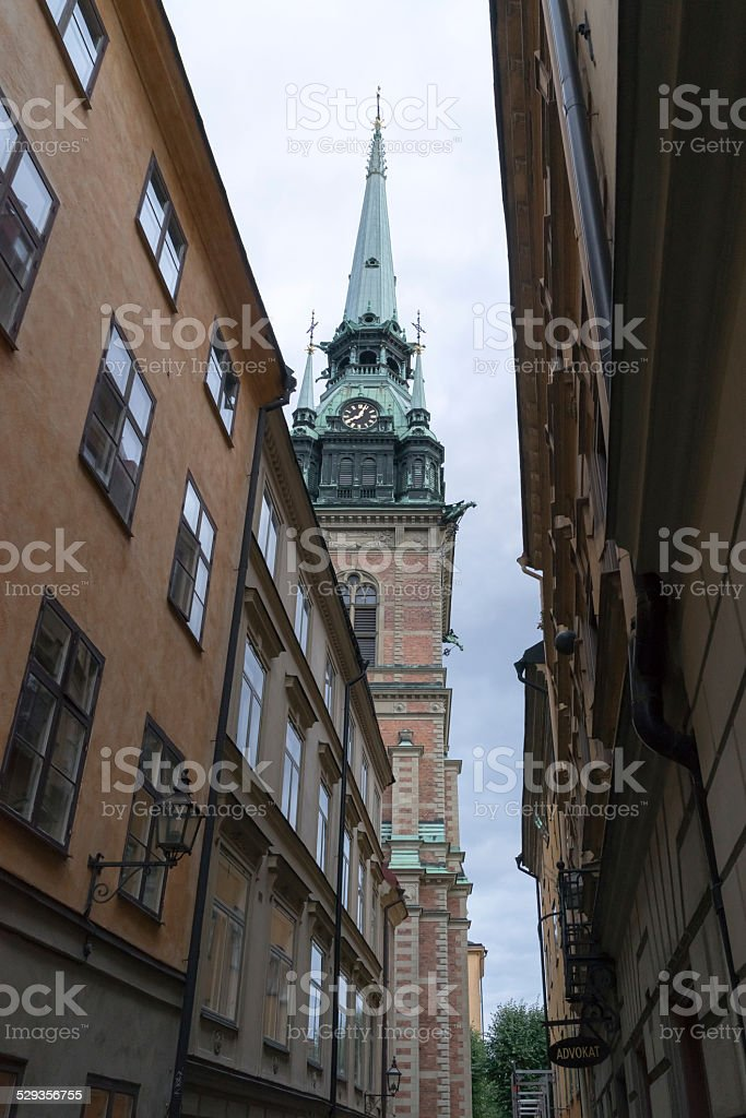 Tyska kyrkan (German Church), Stockholm, Old town stock photo