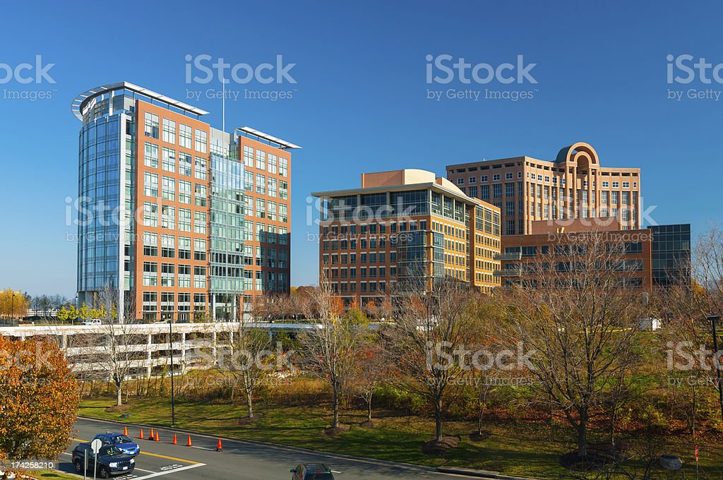 Tysons Corner, VA buildings stock photo