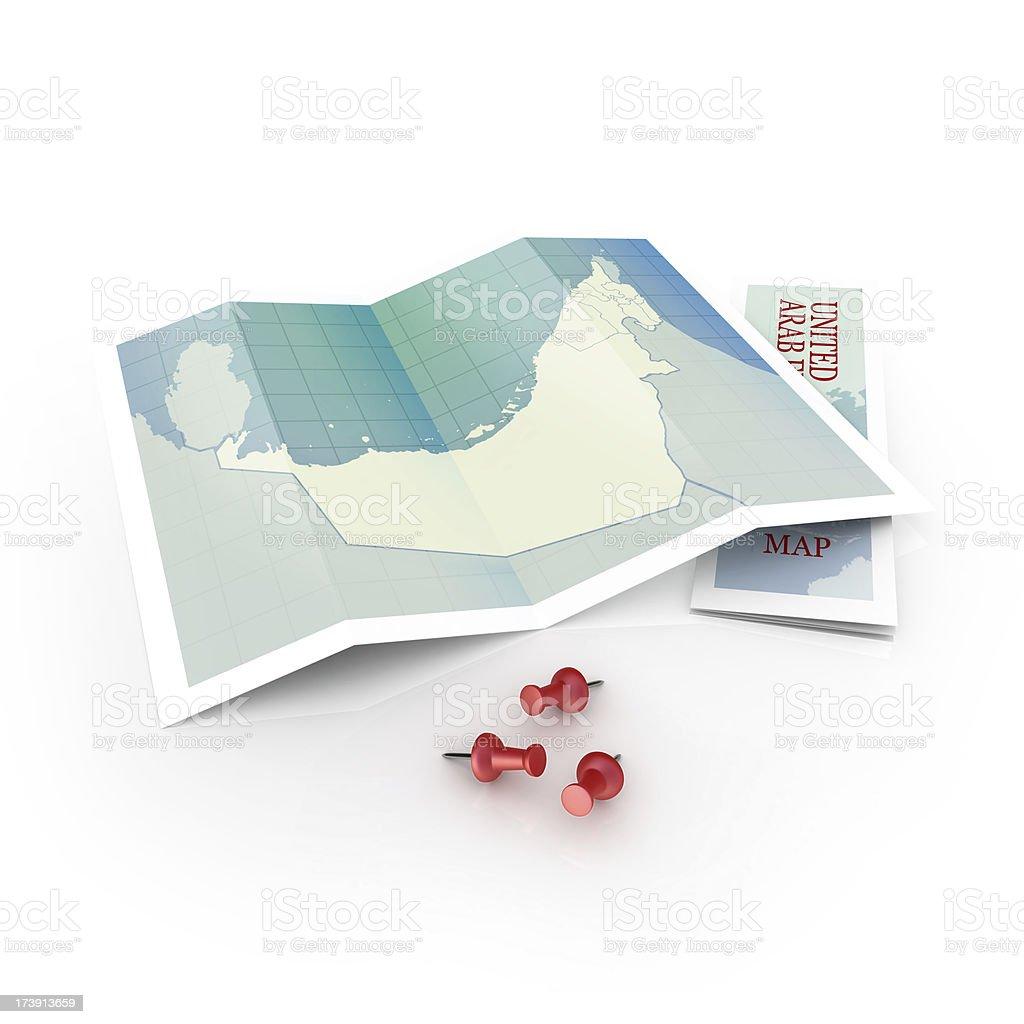 uae map royalty-free stock photo