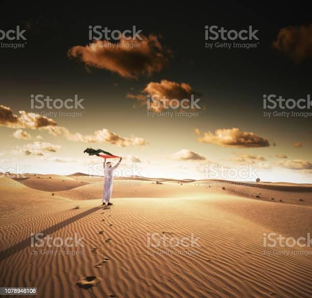 烏埃國慶日在沙漠中 照片檔及更多 一個人 照片