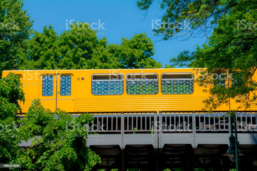 U-Bahn elevated subway in the city of berlin stock photo