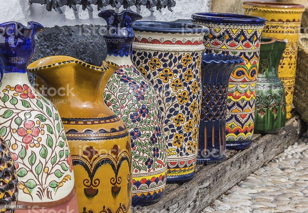 Ubeda pottery stock photo