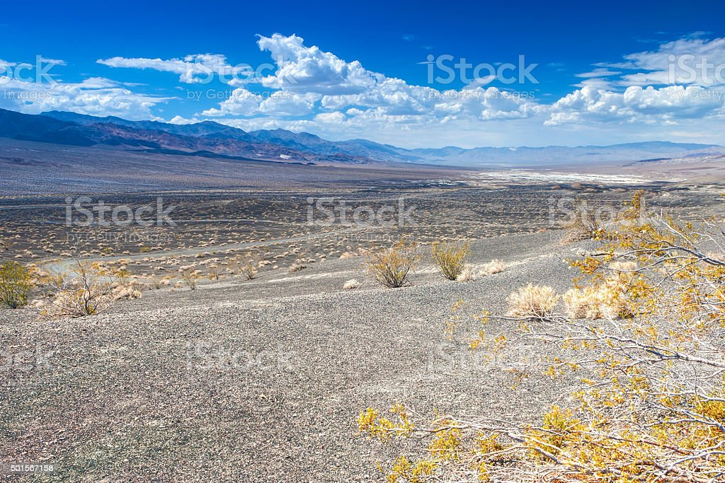 Ubehebe Crater in Death Valley National Park, California stock photo