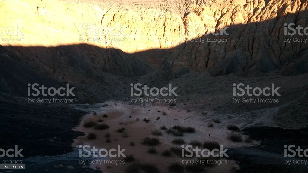 Ubehebe Crater, north tip of the Cottonwood Mountains, Death Valley stock photo