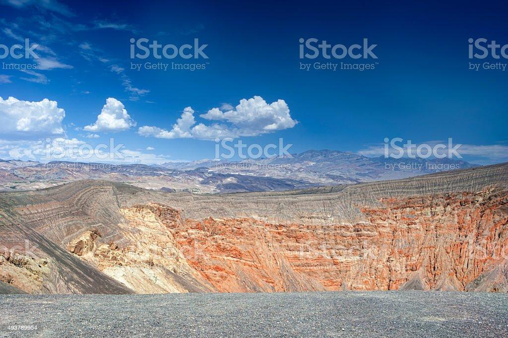 Ubehebe Volcano in Death Valley stock photo