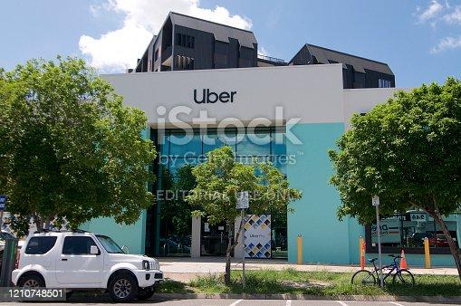 586078104 istock photo Uber building in Brisbane 1210748501