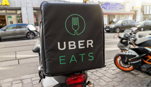 Uber eats stock photo