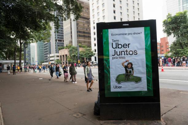 Uber Juntos Werbung in São Paulo, Brasilien – Foto