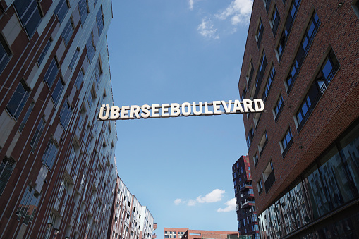 Uberseeboulevard in Hamburg Germany