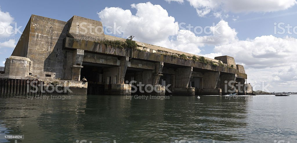 U-Boat Base, Lorient, Brittany, France stock photo