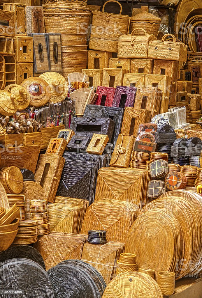 Ubud handicraft market, Bali stock photo