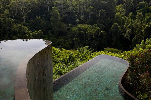 Ubud Hanging Gardens in Bali Indonesia stock photo