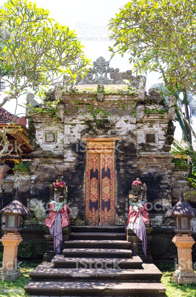 Ubud palace, Bali, Indonesia stock photo