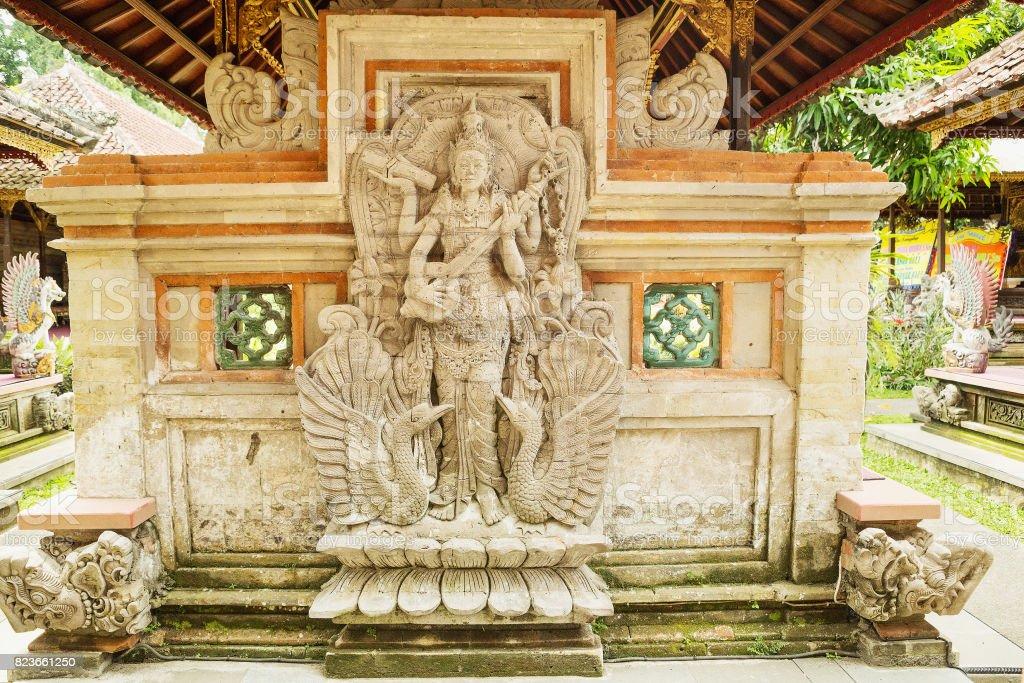 Ubud palace, Bali - Inside the Ubud palace, Bali, Indonesia. stock photo