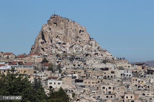 Uchisar Castle in Cappadocia, Nevsehir City, Turkey