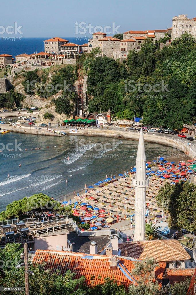 Uclinj Montenegro on the Adriatic Sea stock photo