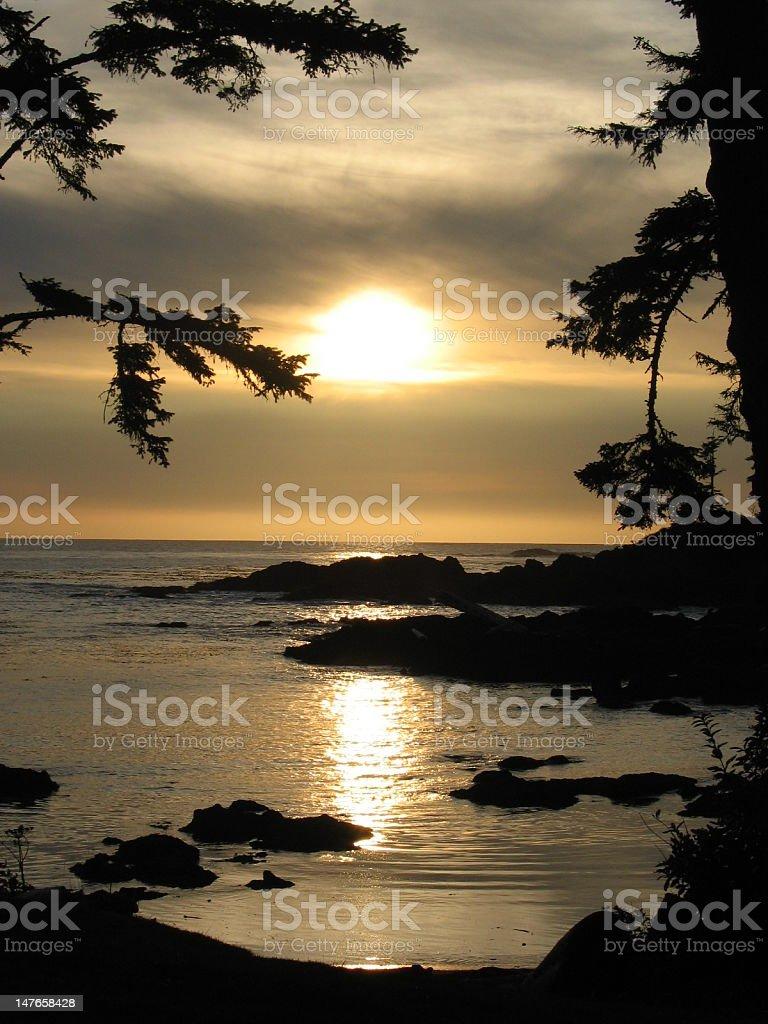 Ucluelet Sunset royalty-free stock photo