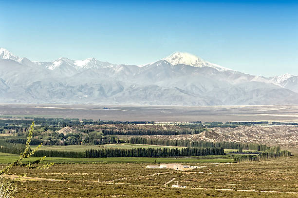 Uco valley, Tupungato, Mendoza, Argentina stock photo
