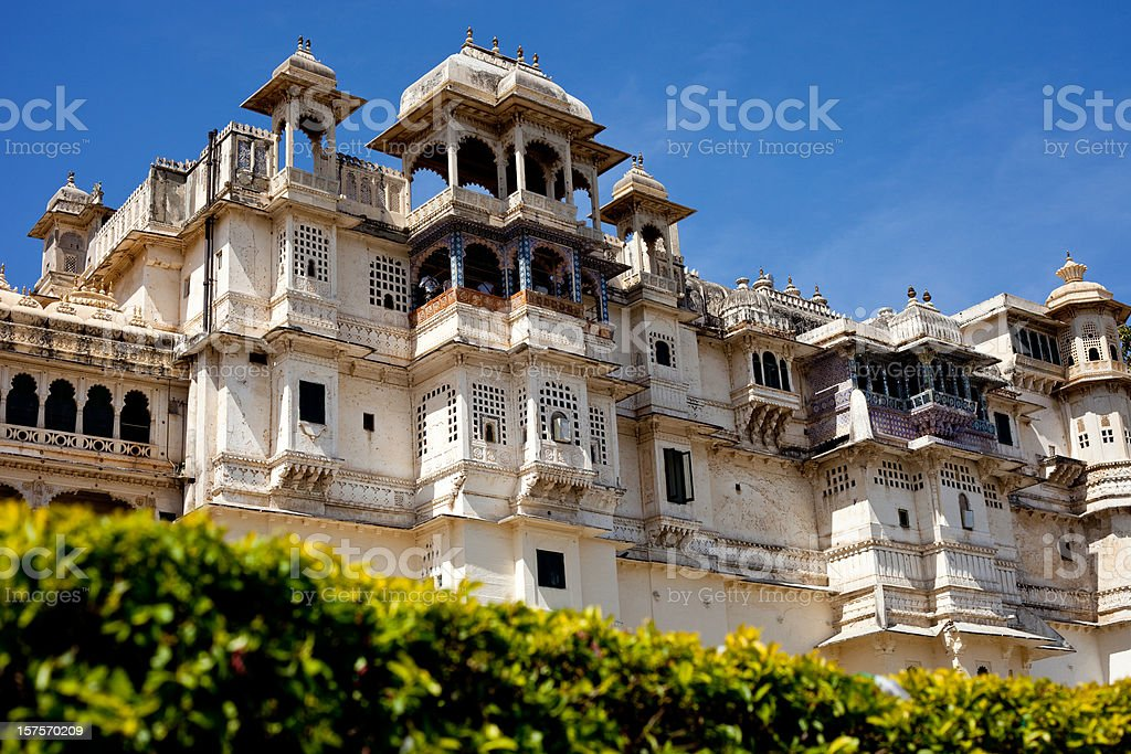 Udaipur City Palace In Rajasthan, India royalty-free stock photo