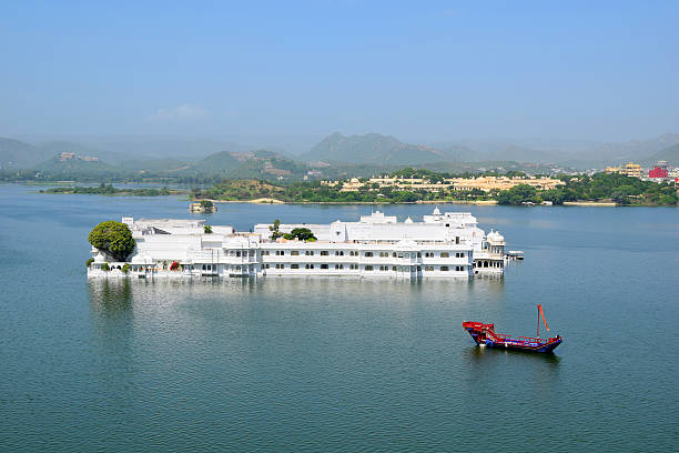 Udaipur Taj Palace India Udaipur Taj Palace in India lake pichola stock pictures, royalty-free photos & images