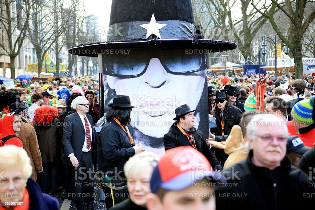 Udo Lindenberg parade float street carnival stock photo