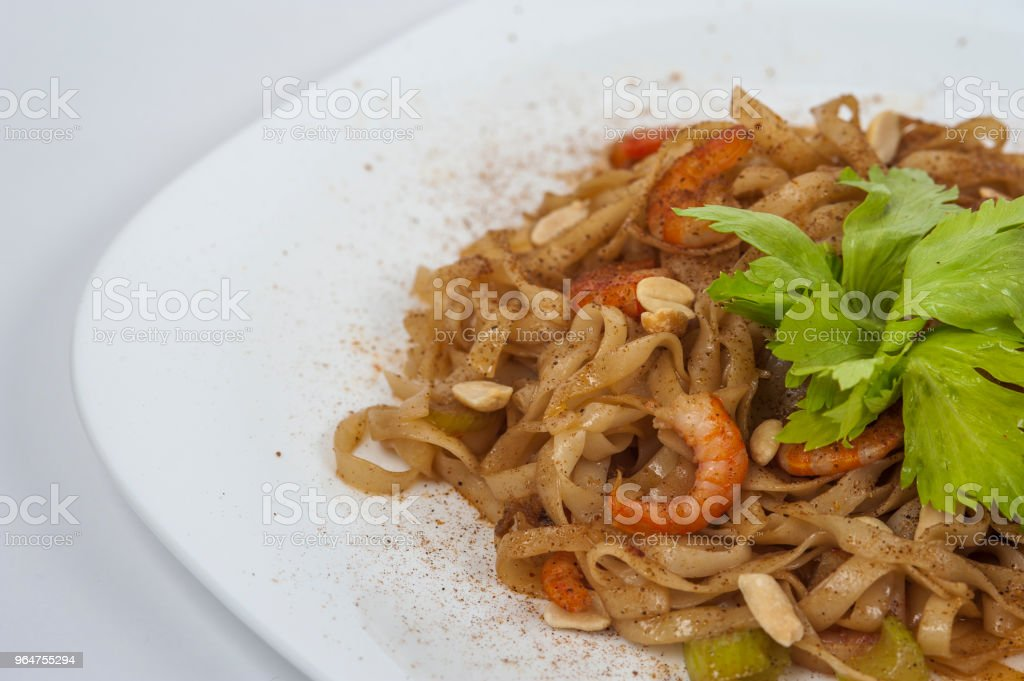 Udon pasta with vegetables royalty-free stock photo