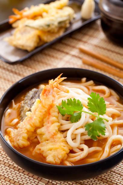 udon - tempura imagens e fotografias de stock