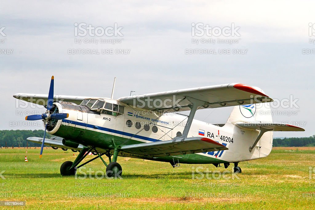 Ufa Airlines Antonov An-2 stock photo