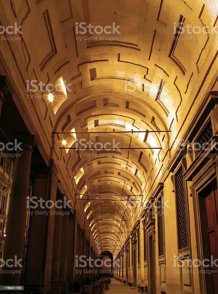 Uffizi by night stock photo