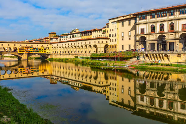 Uffizi Gallery in Florence, Tuscany, Italy stock photo