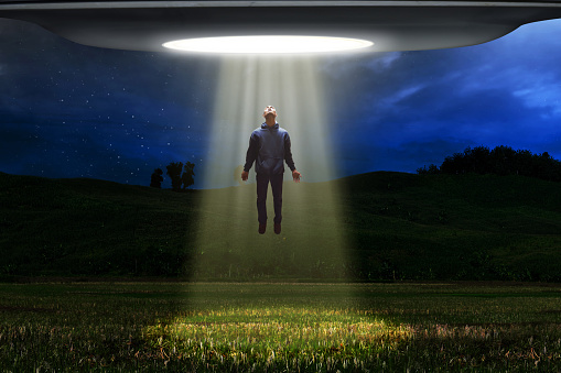 Ufo Alien Abduction Stock Photo - Download Image Now - iStock