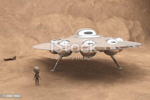 An alien visiting the world.