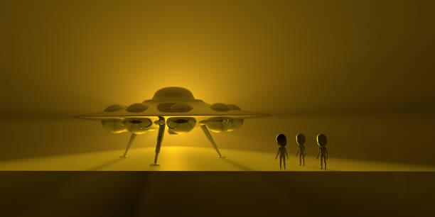Ufo und Aliens am Boden – Foto