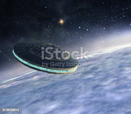 istock Ufo in orbit 919838914