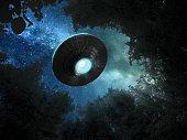 Ufo in the night sky