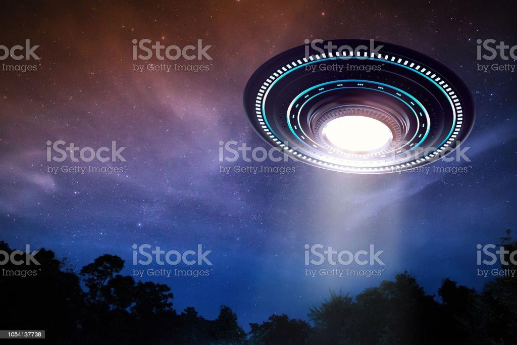 ufo or alien spaceship stock photo