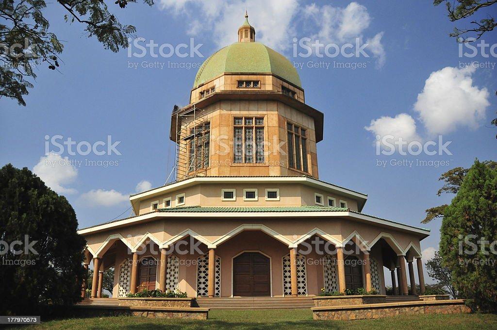 Uganda- Kampala: Baha'i Temple royalty-free stock photo